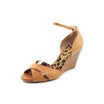 Jessica Simpson Nouta Peep Toe Couro Wedge Sandal