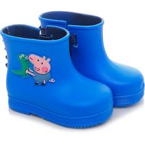 Bota Galocha Infantil George Pig Azul - Grendene Kids