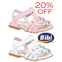 20% Off Sandália Bibi Couro Infantil - Rosa Ou Branca