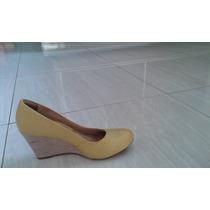 Sapato Anabela Ramarim Em Couro