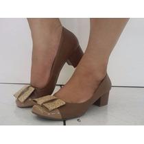Sapato Em Couro Com Laço Mara Moraes (6003)