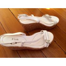Sapato Sandália Anabela Plataforma Camurça