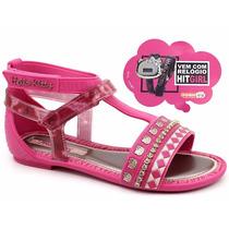 Sandália Grendene Hello Kitty 21329 Rosa Loja Pixolé