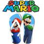 Chinelo Personalizado Mario Bros Luigi Games
