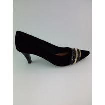 Sapato Feminino De Salto Baixo Preto Número 37