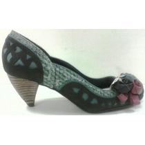 Sapato Feminino Salto Alto Retro