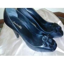 Sapato Pep Toe Datelli Salto 10 Cm