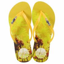 Sandalia Coca Cola Palm Amarelo - Chinelo Cc2083