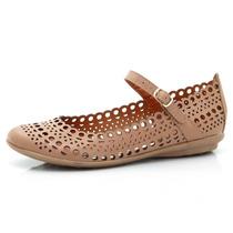 Sapatilha Ads Fivela Confort Bege Sapatos Mania