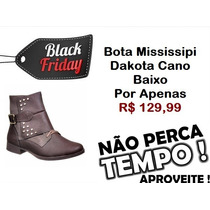 Black Friday Bota Mississipi Cano Baixo Dakota