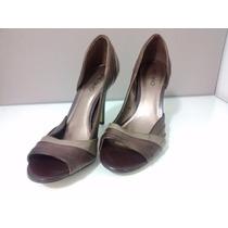 Sapato Feminino Marron Em Couro 38