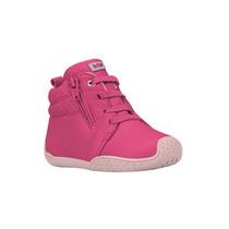 Tenis Infantil Feminino Couro Anatomico Bibi 923009 Rosa