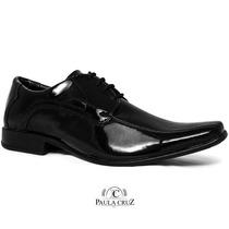 Sapato Preto Masculino Cadarsso Atacador Escritório Oab