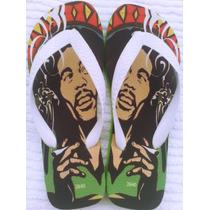 Chinelo Sandália Bob Marley Reggae