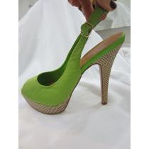 Sandalia Feminina Verde 37 Via Uno Pronta Entrega