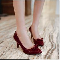 Sapato De Salto Alto Diversos Tamanhos.preto,beige,vermelho.