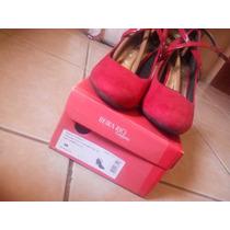 Sapato Beira Rio Conforto Vermelho Nº39