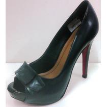 Sapato Feminino Salto Alto Plataforma Embutida Scarpan