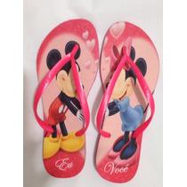 Chinelo Personalizado Havaianas Slim - Mickey E Minie