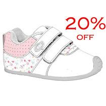 20% Off Tênis Bibi Infantil Couro Menina - Branco 648071