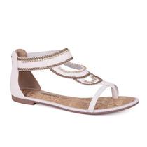 Sandália Dakota Rasteira Com Strass - 33063