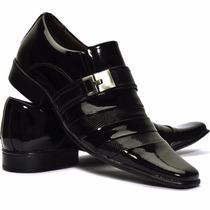 Sapato Social Masculino Preto Verniz + Cinto Preto Verniz