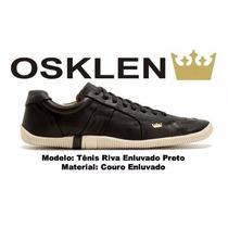 Sapatenis Masculino Osklen 100% Original Em Couro Legítimo