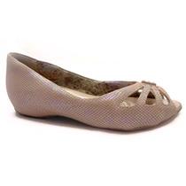 Sapato Comfortflex Píton Furtacor Nude 13-76402