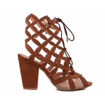 Sandália Sapato Feminino Caramelo Salto Alto Super Conforto