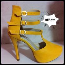 Salto Alto Elegante Amarelo