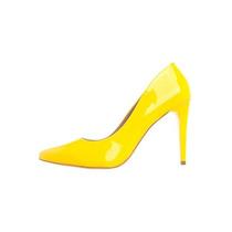 Scarpin Amarelo C/solado Vermelho