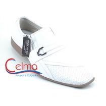 8111b Sapato Branco Para Médico, Couro Legítimo - Perlatto