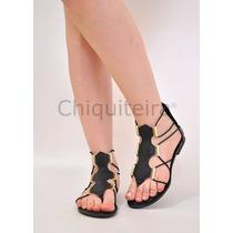 Sandálias Feminina Gladiadora Baixa 002 - Chiquiteira Outlet
