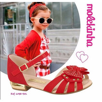 Sandalia Molekinha Moleca Infantil Menina - 2098402 Vermelho