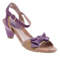 Sandália Salto Baixo Laço Ramarim Linda Confortável 1114121