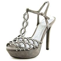 Lola Cruz 016p30bk Peep Toe Suede Platform Sandal