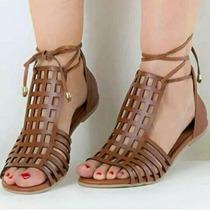 Sandália Gladiadora De Amarrar - Shekina Calçados