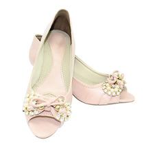 Sapato Retrô Rose Com Pedras