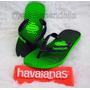 Sandália Havaianas Aero Graphic Green Neon