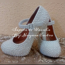 Sapato De Noiva Pérola 10,12,14 (customizado)