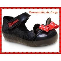 Sapatilha Infantil Disney Minnie Mouse Preto - Mega Liquidaç