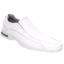 Sapato Couro Branco Masculino Enfermagem Veterinário Médico