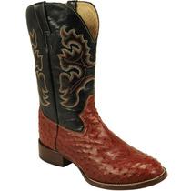 Bota Country Masc Texana Exótica Silverado Couro Avestruz