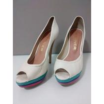 Sapato Feminino Off White Meia Pata 39