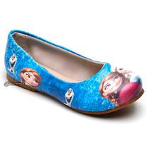 Sapatilha Feminina Frozen Elsa Anna Infantil Disney
