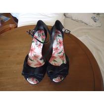 Sapato Camaurça Preto Tam 35