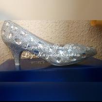 Sapato Cristal Noiva 5 Cm (customizado)