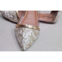 Presente Dia Das Mães Sapato Feminino Sapatilha Dourada Pvc