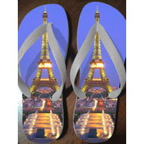 Chinelo Torre Eiffel (noite)