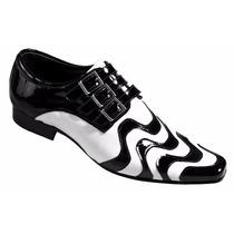 Sapato Social Masculino Couro Cinto Legítimo Moda Lançamento